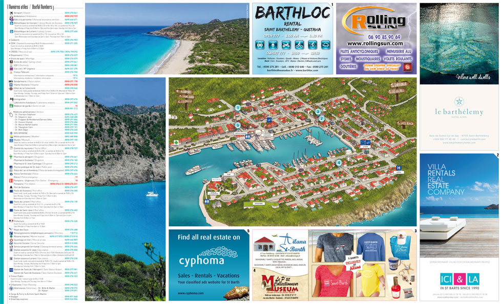 map one st barth