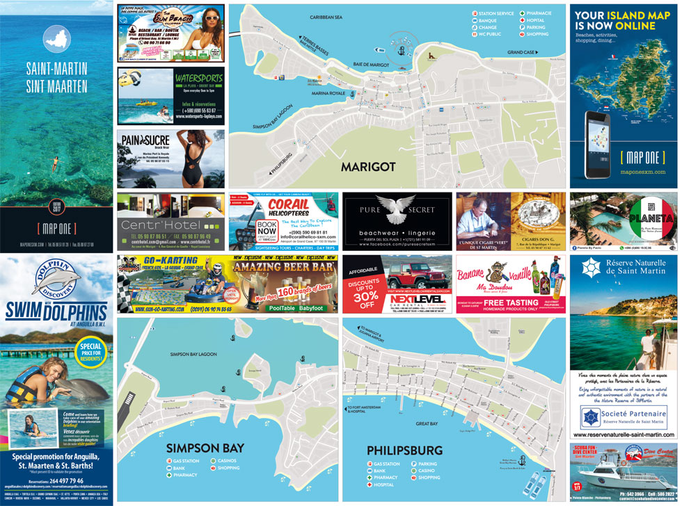 map one st martin st maarten